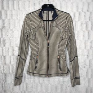 Lululemon Striped Full Zip Pullover Jacket Sweater